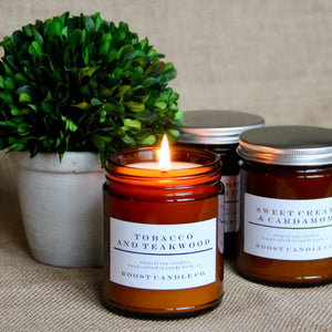 Tobacco and Teakwood <br>Apothecary Jar Candle