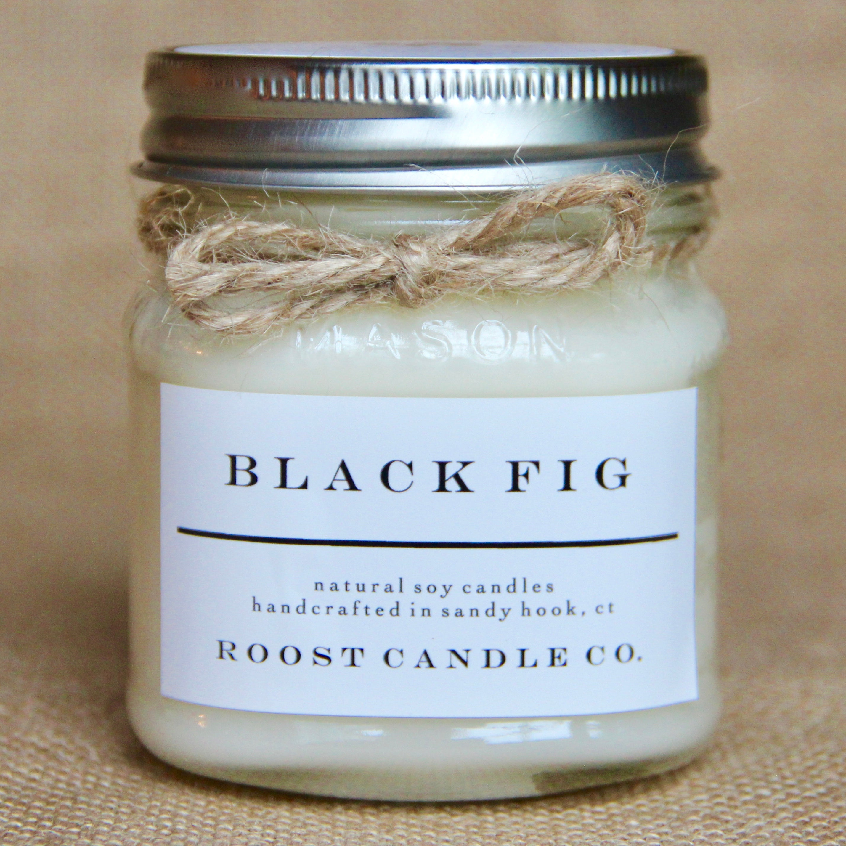Black Fig <br> Mason Jar Candle