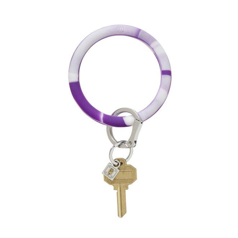 BIG O KEY RING-SILICONE-DEEP PURPLE MARBLE