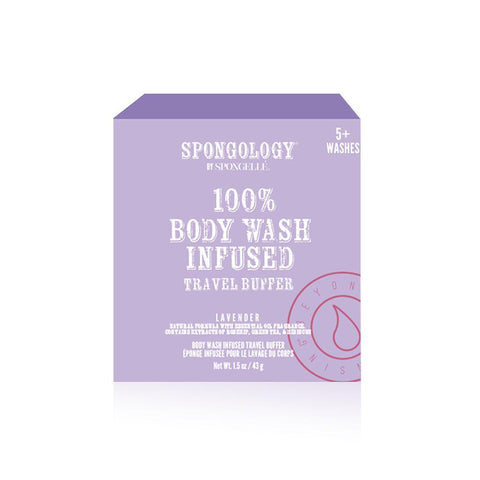SPONGOLOGY TRAVEL BUFFER-LAVENDER 5+WASHES