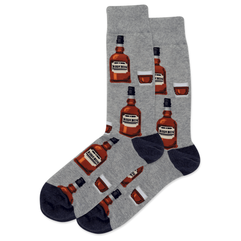 SOCKS-GREYH-BOURBON