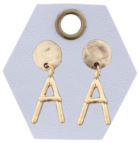 SAY MY NAME EARRINGS INITIAL GOLD