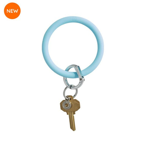 BIG O KEY RING-SILICONE-SWEET CAROLINE BLUE