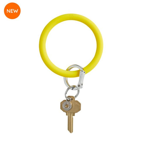 BIG O KEY RING-SILICONE-YES YELLOW