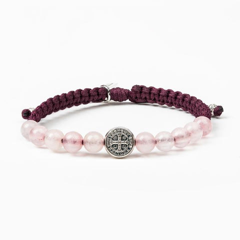 WAKE UP AND PRAY-EGGPLANT/ROSE QUARTZ/-SILVER