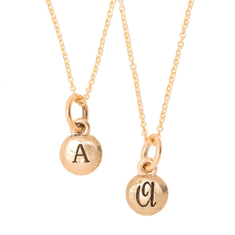 Tiny Monogram 2-Sided Necklace