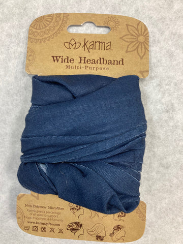 WIDE HEADBAND-SOLID NAVY