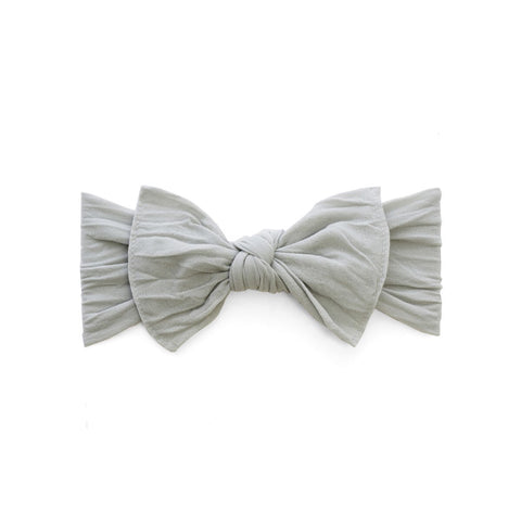 KNOT SOLID HEADBAND-GREY