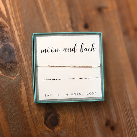DOT & DASH BRACELET-MOON & BACK