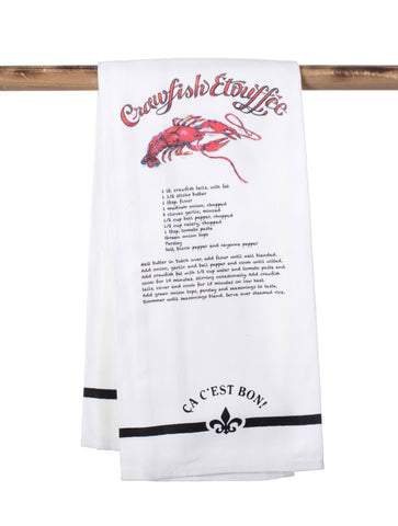 KITCHEN TOWEL: Ca C'est Bon Crawfish Etouffee Towel