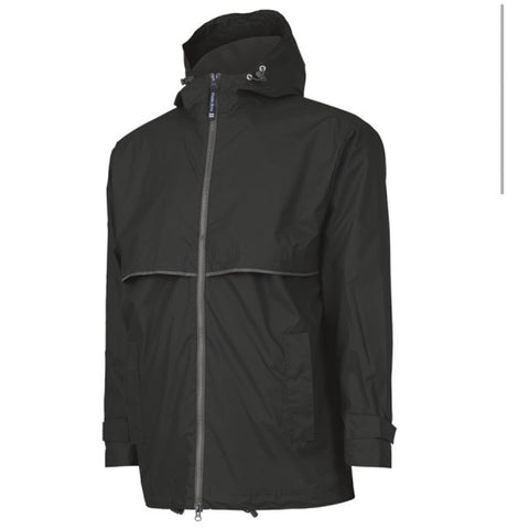 MEN'S RAIN JACKET-BLACK