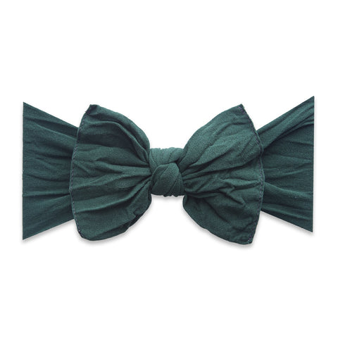 KNOT SOLID HEADBAND-FOREST GREEN