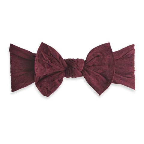 KNOT SOLID HEADBAND-BURGUNDY