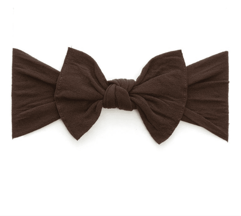 KNOT SOLID HEADBAND-BROWN
