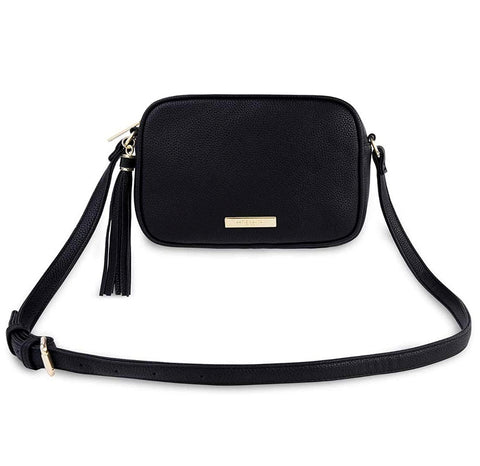 SOPHIA TASSEL CROSSBODY-BLACK
