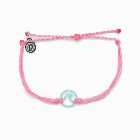 PURAVIDA BRACELET - WAVE AQUA-LIGHT PINK