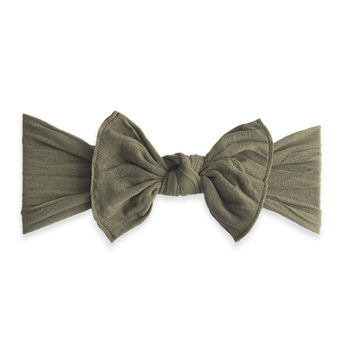 KNOT SOLID HEADBAND-ARMY GREEN