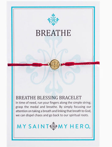BREATHE- BRACELET - GOLD WITH MERLOT