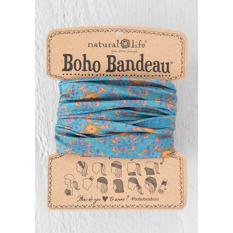 Blue Flower Stamp Boho Bandeau®