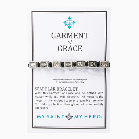 GARMENT OF GRACE BRACELET -BLACK AND SILVER