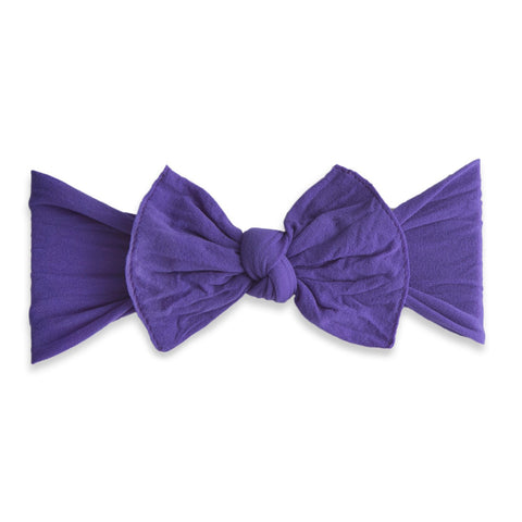 KNOT SOLID HEADBAND-ULTRA VIOLET