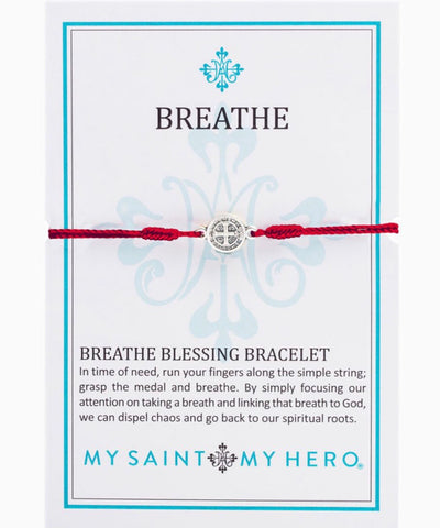 BREATHE- BRACELET -SILVER WITH MERLOT