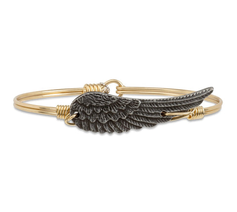ANGEL WING BRASS BANGLE SMALL
