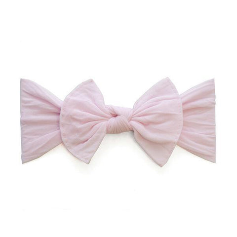 KNOT SOLID HEADBAND-PINK