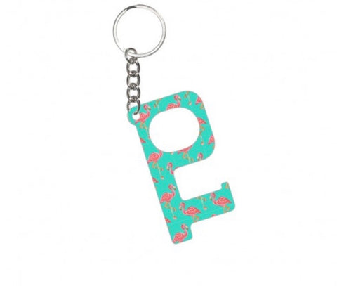 HANDS-FREE KEYCHAIN-TICKLE PINK FLAMINGO