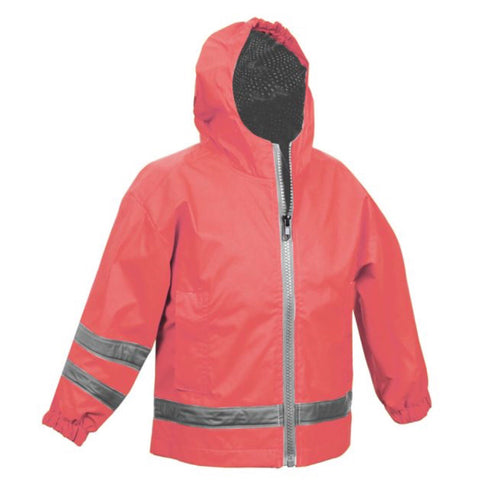 TODDLER RAIN JACKET-CORAL