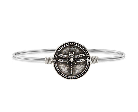 DRAGONFLY SILVER BANGLE SMALL