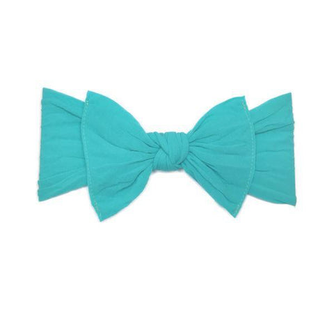 KNOT SOLID HEADBAND-TURQUOISE