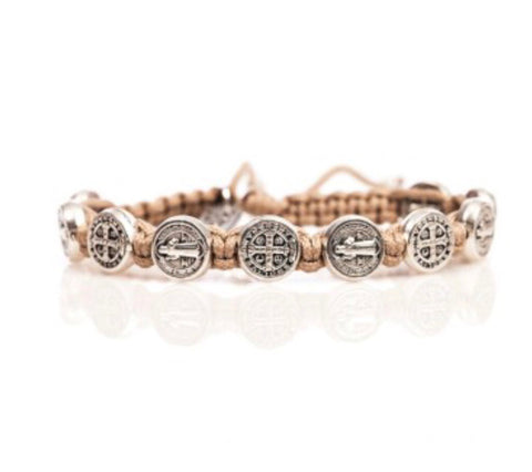 CONFIRMATION BRACELET TAN/SILVER