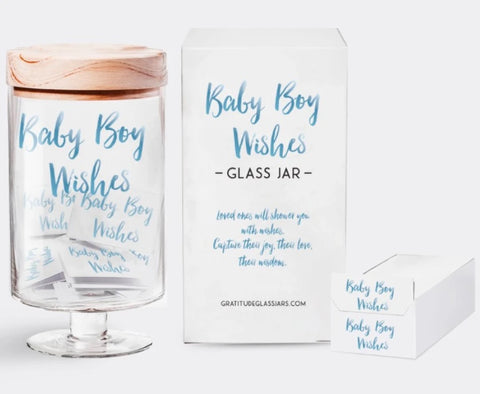 GLASS JAR-BABY BOY WISHES