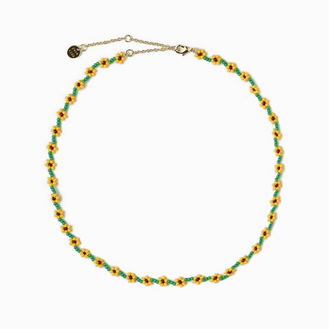 PURAVIDA CHOKER-FLOWER CHAIN SB SUNFLOWER