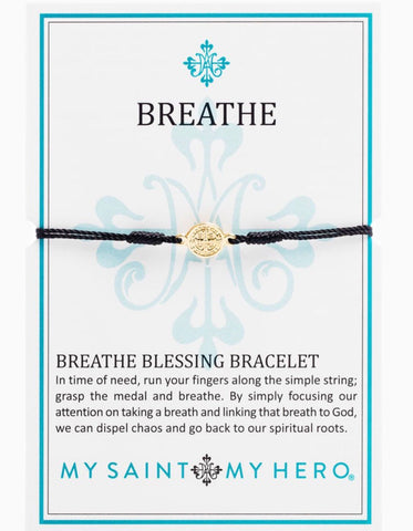BREATHE- BRACELET -GOLD WITH BLACK