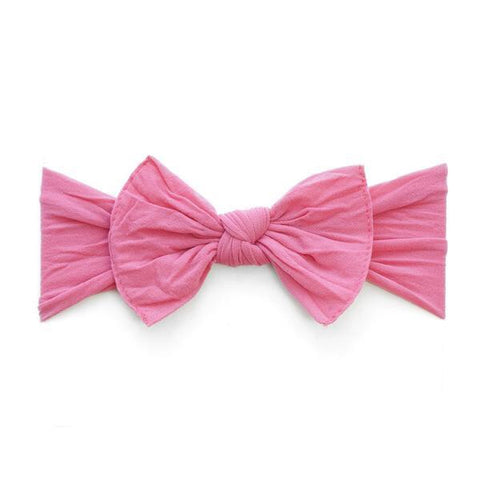 KNOT SOLID HEADBAND-HOT PINK