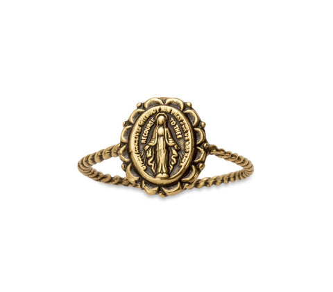 RING MIRACULOUS MEDAL GOLD