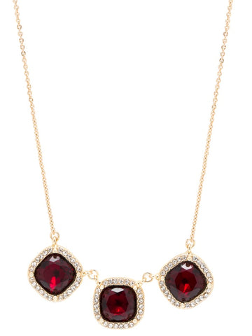 "PAVE LUXE 16""W3""EXTENDER RED/GOLD"