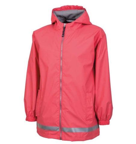 YOUTH RAIN JACKET-CORAL