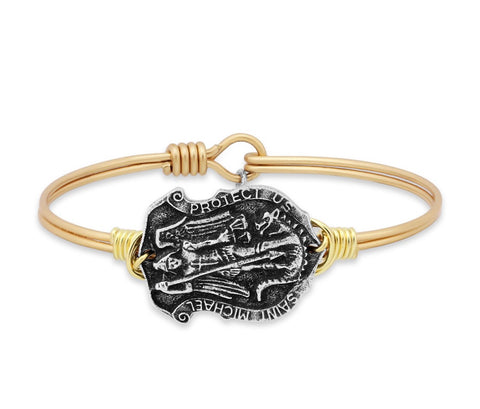 SAINT MICHAEL BRASS BRACELET SMALL