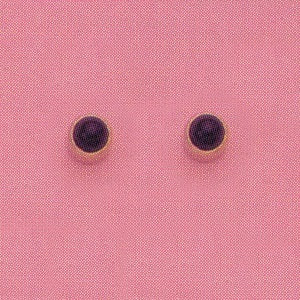 GOLD BEZEL BLACK CUBIC ZIRCONIA EAR PIERCINGS STUD 3MM, FOR SENSITIVE EARS. SURGICAL STAINLESS STEEL. NICKEL & ALLERGY FREE.