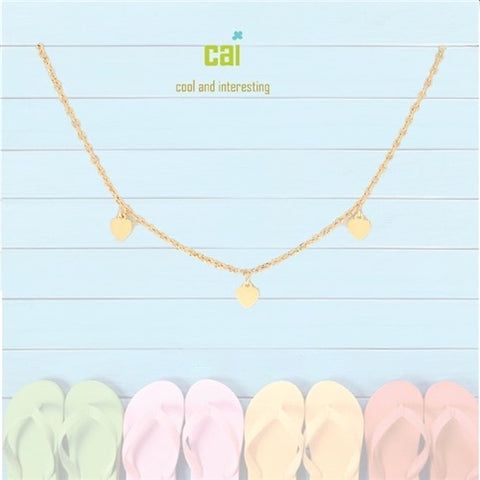 ANKLET-DAINTY/DANGLE GOLD HEART