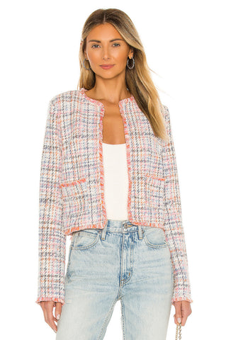 TOP-NEON BELIEF TWEED JACKET • MULTI