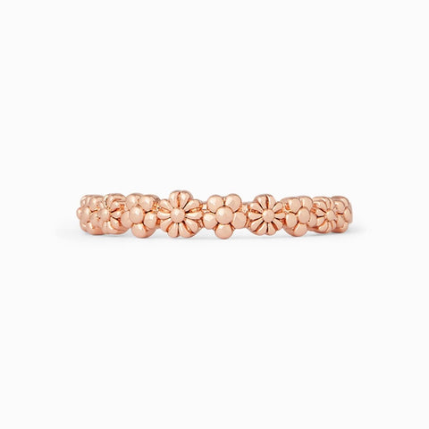 PURAVIDA RINGS-FLORAL STACKING ROSE GOLD