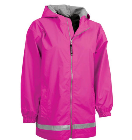 YOUTH RAIN JACKET-HOT PINK