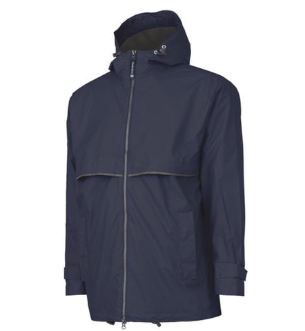 MEN'S RAIN JACKET-TRUE NAVY/GREY