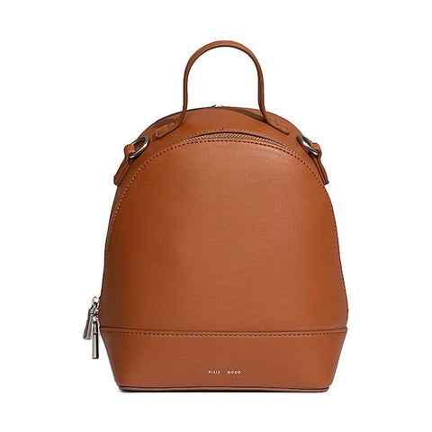 CORA SMALL BACKPACK-COGNAC