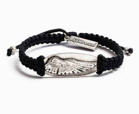 SOAR-REMEMBRANCE BRACELET - BLACK WITH SILVER