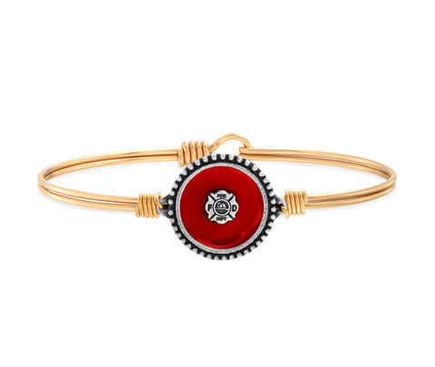 FIREFIGHTER BANGLE BRACELET BRASS